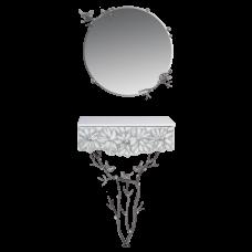 Консоль и зеркало Терра Серебро