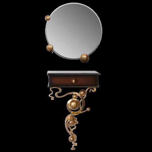 Консоль и зеркало Heri Каштан