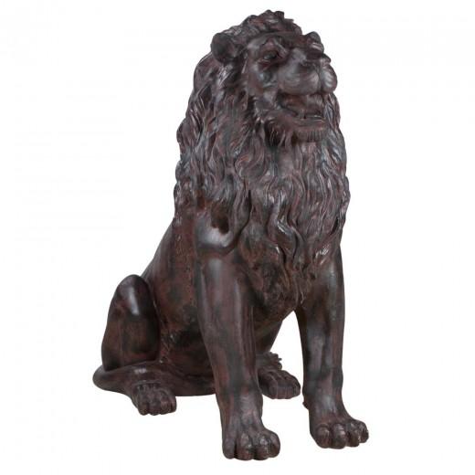 Садовая скульптура Лев Тюдор Шоколад